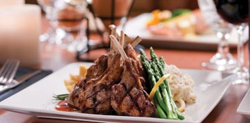 A juicy steak served at the grill at Grande Vista Golf Club in Orlando